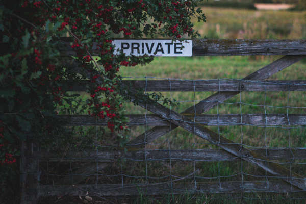 fence in rural setting