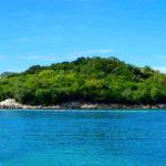 an ocean island