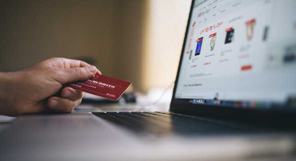 making online purchase with credit card