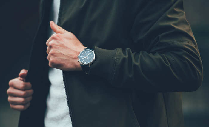 a man with a watch