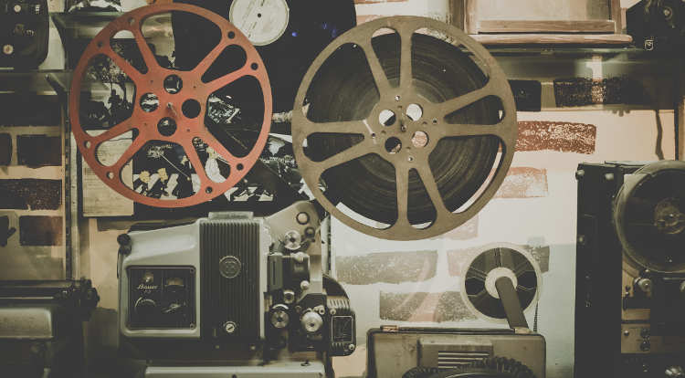 an old film reel