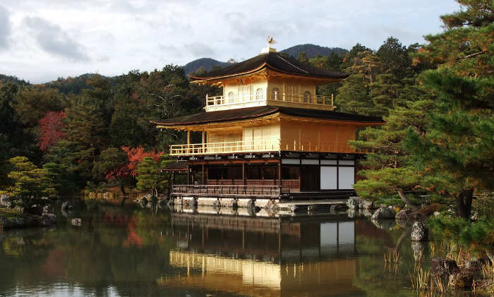 a Japanese building