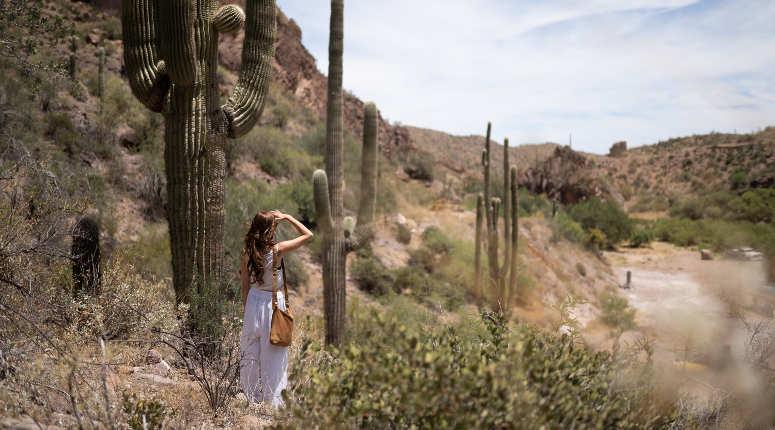 woman in arizona desert