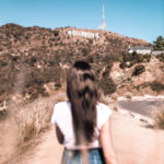woman walking in Hollywood